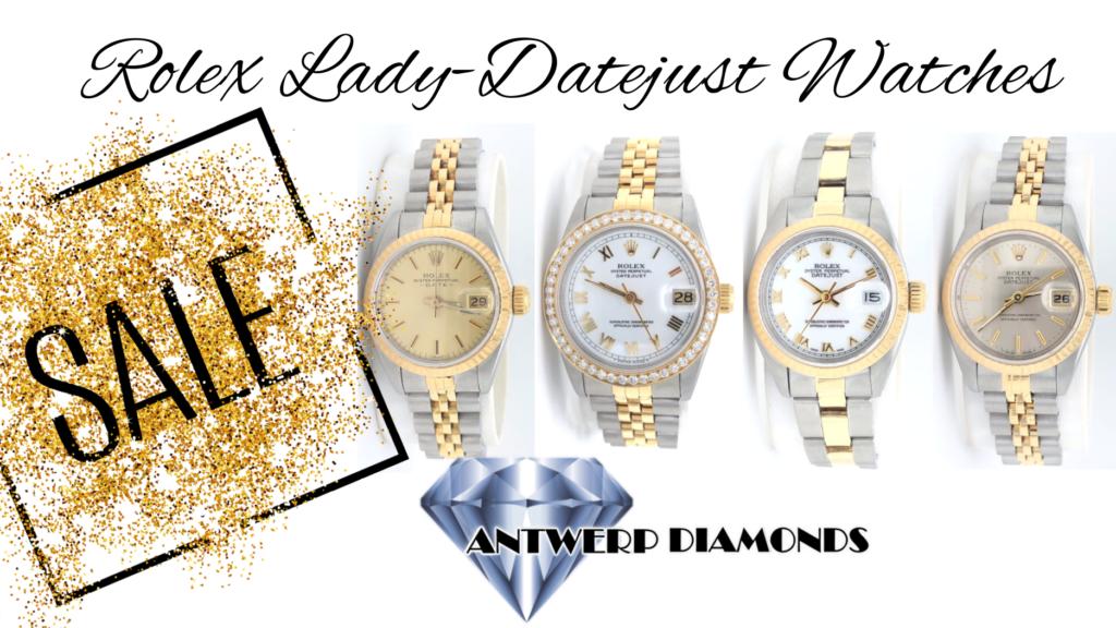 Rolex Lady-Datejust Watches - Antwerp Diamonds